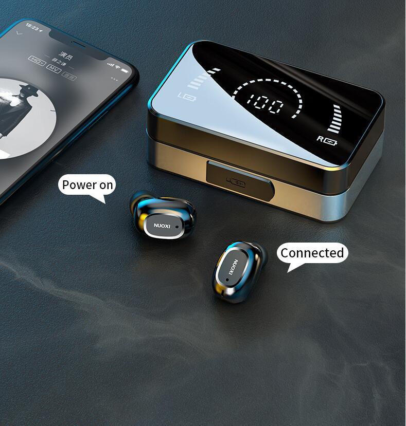 T5 Wireless Bluetooth-Ohrhörer HiFi-Stereo-Business-Headset-Musik- und Sport-Kopfhörer für iPhone Huawei Xiaomi Samsung 2 Farben