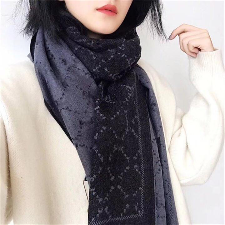 패션 럭셔리 스카프 여성의 두꺼운 캐시미어 타월 고전적인 브랜드 숄 겨울 긴 스카프