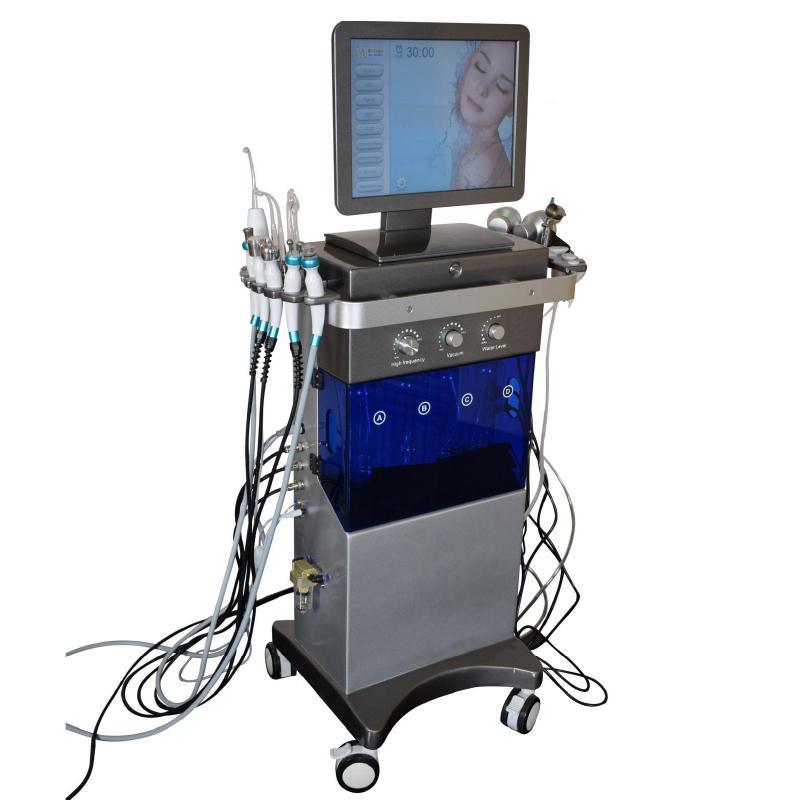 Spa 20 Cuidados com a pele 9 em 1 Diamond Hydra Dermaabrasão Facila Máquina de Limpeza Profunda Multi-Função Hidratante Facial / Beleza Salão Equipmen