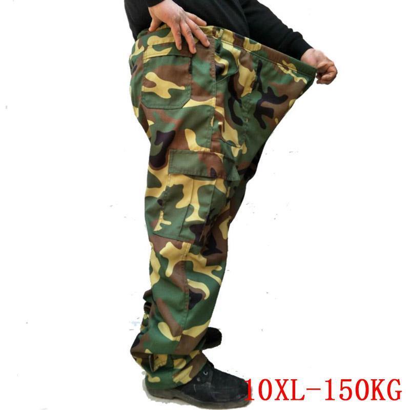 Große Größe Herrenhose Camouflage Elastische Band 7XL 8XL 9XL plus 10XL Sommer Lose Armee Grüne Sport 50 52