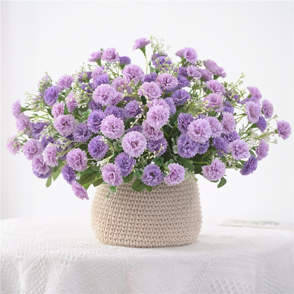 Small lilac flowers bundle Artificial fake silk Flowers flores for Home party garden Decoration wreath 20 Heads