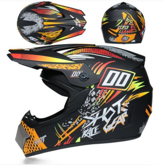 Casco de cara completa de cuatro temporadas adecuado para carreras de motocicleta de motocicleta de carreras fuera de carretera. Bicicleta de montaña cuesta abajo
