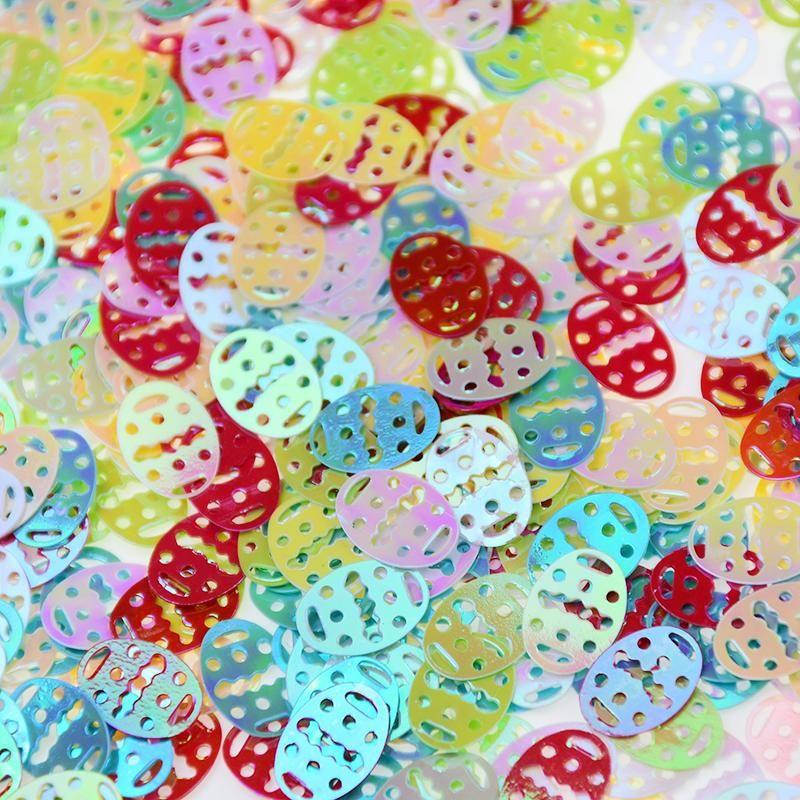 15g feliz de Pascua Confeti colorido lentejuelas de lentejuelas de la mesa de huevo asperje para adornos de decoración del hogar de fiesta
