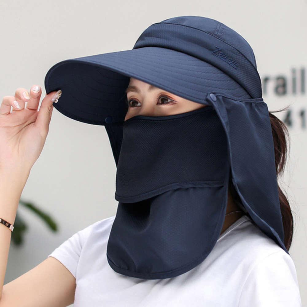 Yaz bisiklet uv dış şapka kadın güneş koruma peçe maskesi yüzünü kaplamak için