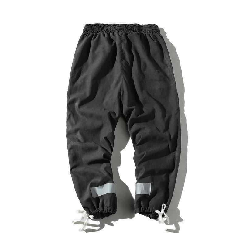 Hip Hop Erkek Kalem Pantolon Streetwear Eğlence Jogger Harem Erkekler Gevşek 2021 Yaz Sweatpants Erkek Moda Düz Renk erkek
