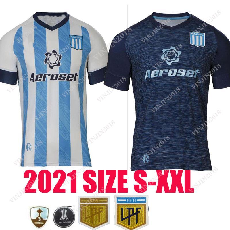 2021 2022 Racing Club Jerseys de futebol Camisetas Tomás Chanalay Feroli Churry Rojas Barbona Cvitanich Aníbal Moreno 21 22 Home Lorenzo Melgarejo Futebol Camisa