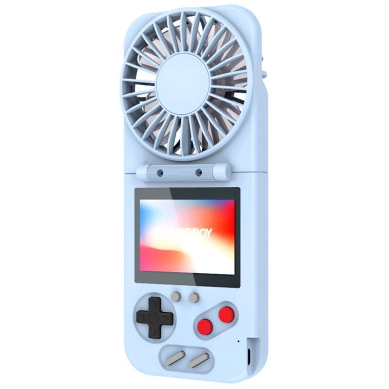 Foldable 핸드 헬드 레트로 게임 콘솔 USB 팬 컬러 LCD 화면 500 게임 어린이를위한 성인 휴대용