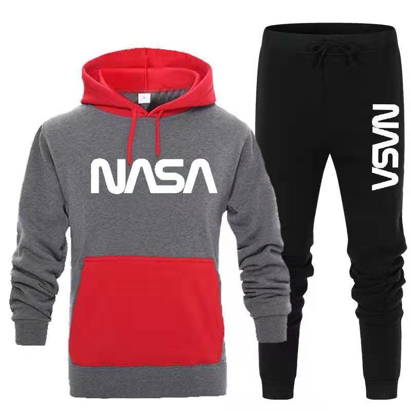 Casual sports,tracksuit Hoodie contrast color sweater sportswear suit men's wear