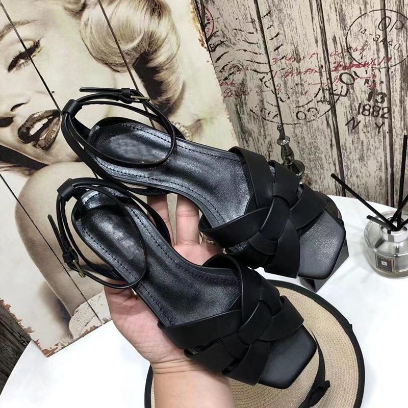 Kadınlar için Sandalet Yüksek kaliteli deri yaz slayt ayakkabı kadın düz terlik açık tembel moda terlik ayak bileği kayışı ayakkabı plaj sandalet