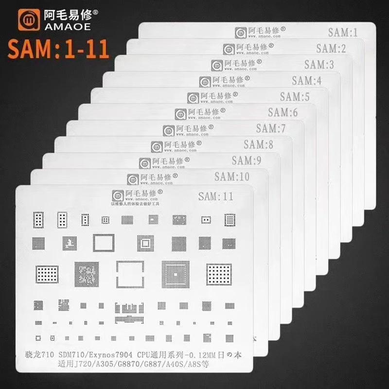 REBALING-Schablonenvorlage für Samsung S10 / S9 / S8 / S7 / S6 / S5 / A5 / A7 / A3 / J7 / J3 / A9 / A3 / J7 / J3 / A9 / C9 / C7 / A520 / A310 / NOTIKE 5/8/9/10 Professionelle Handwerkzeugsätze