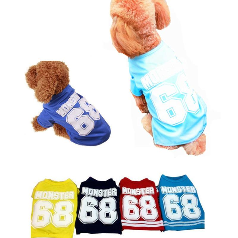 Pet supplies Dog clothing Fashion Sport Wear with for Spring Summer pets dogs clothes spring vest Breathable Cool puppy apparel