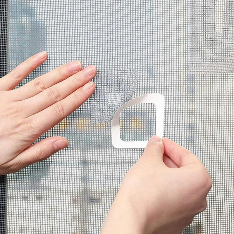 Mosquito Net 5 / 20pcs Conjunto de adesivos para reparar o domicílio fixo anti-mosquito janela de tela de tela