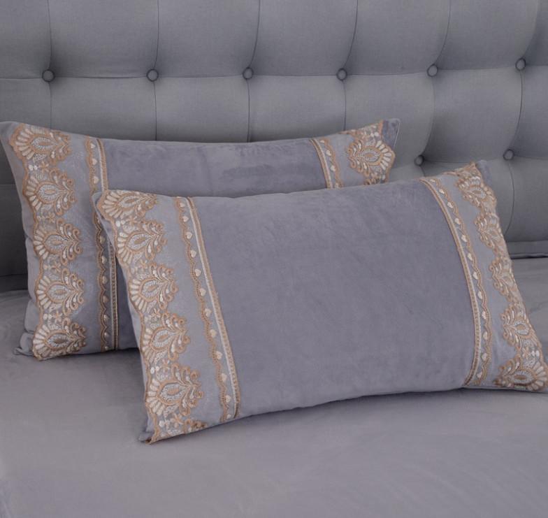 Le dernier étui d'oreiller de 74x48cm, sélection de style de velours courte de cristal, coussins de texture à domicile à la maison, support personnalisé logo