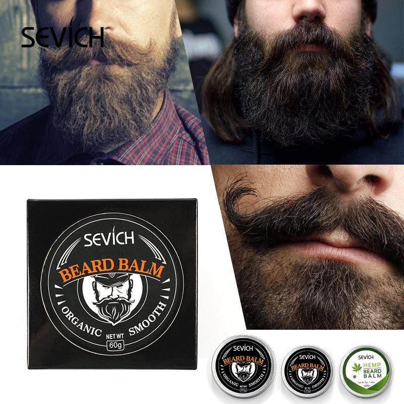 Севич натуральный органический профессиональный бородой Бальзам для бороды рост органических усов воск гладкий стиль борода уход