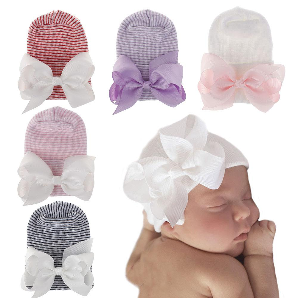 5 قطع 14 ألوان الطفل الوليد قبعات الأطفال الفتيات الفتيان مزدوجة رشاقته القوس قبعة قبعة قبعة القبعات الاطفال بوتيك اكسسوارات للشعر