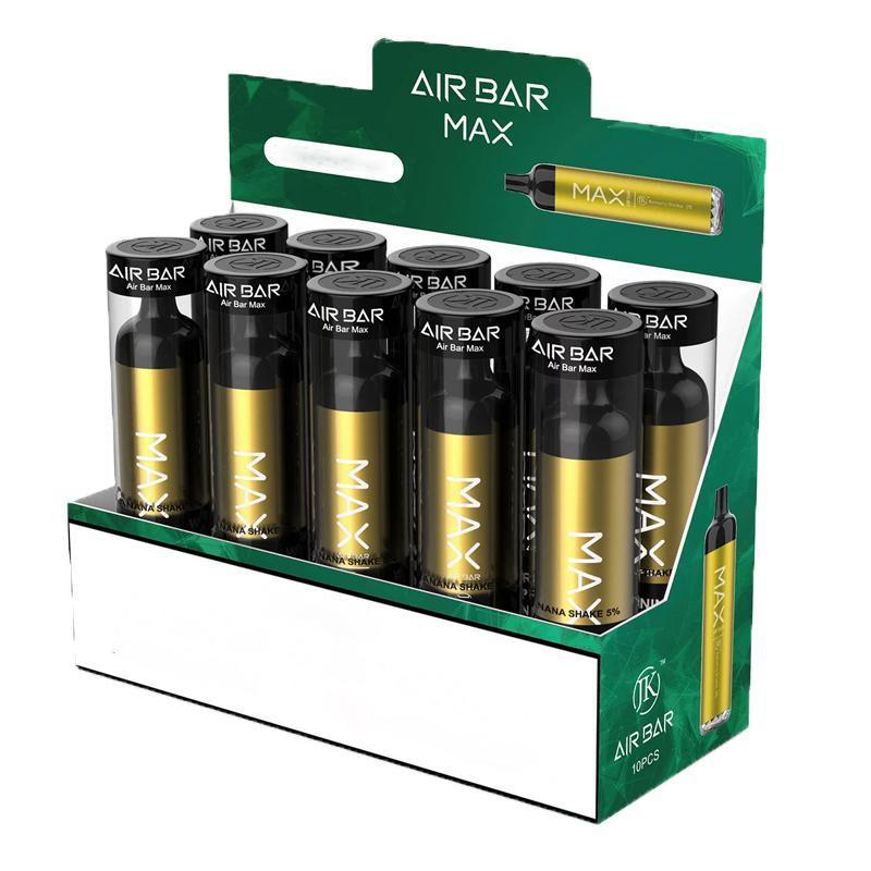 전자 담배 에어 바 최대 vape 키트 2000 퍼프 1250mAh 일회용 배터리 펜 6.5ml 사전 채워진 포드 장치 에어 바