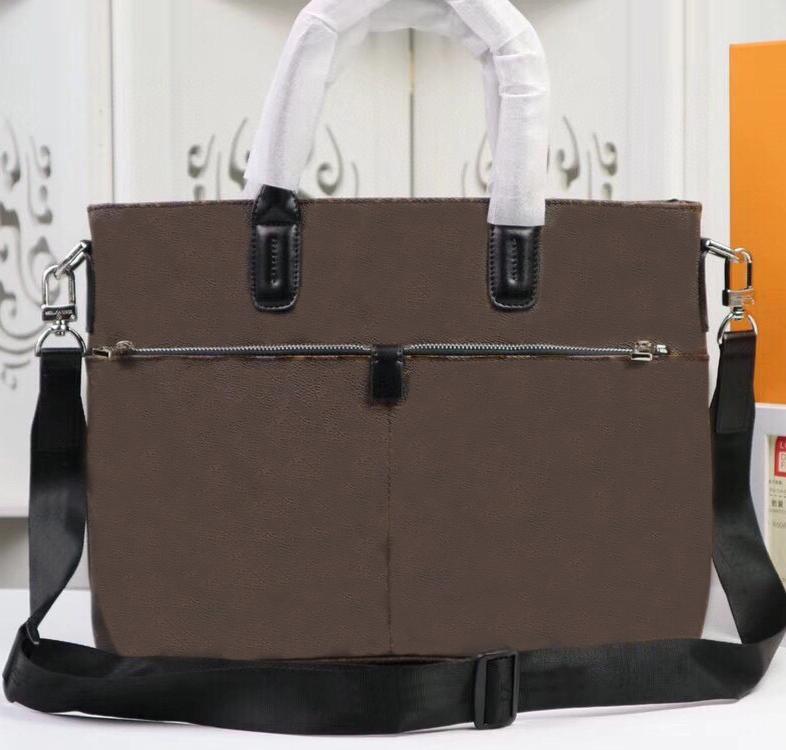 Herrenhandtaschen Rindsleder Trim-Silber All-Steel-Hardware-einstellbarer abnehmbarer gewebter Schultergurt-zwei externe Reißverschluss-Taschen-iPad-Bag-4-Flataschen und 2 Stiftschlaufen