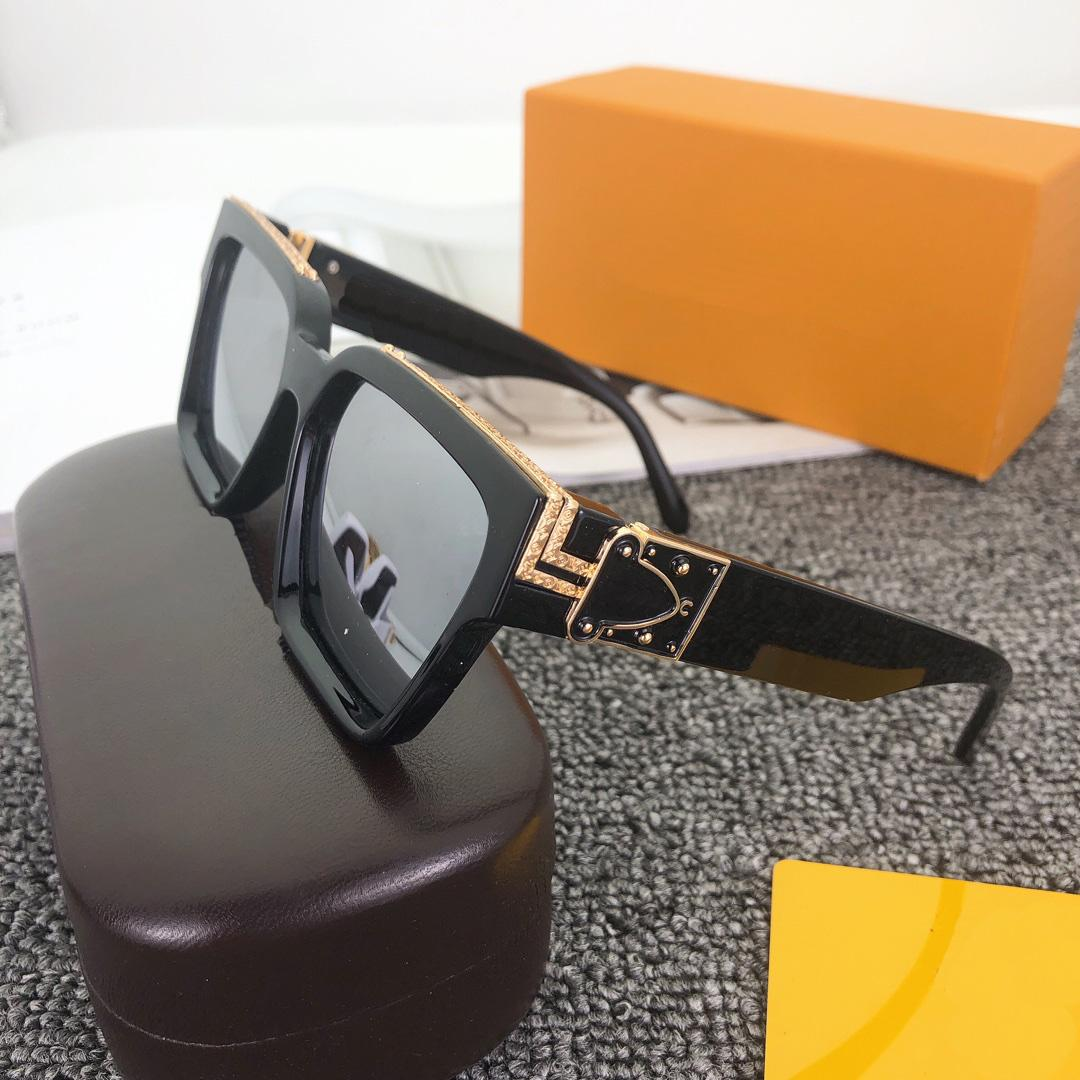 2021men's sunglasses المليونير الإطار مربع عالية الجودة في الهواء الطلق الطليع الطليع بالجملة النظارات مع الإطار 96006