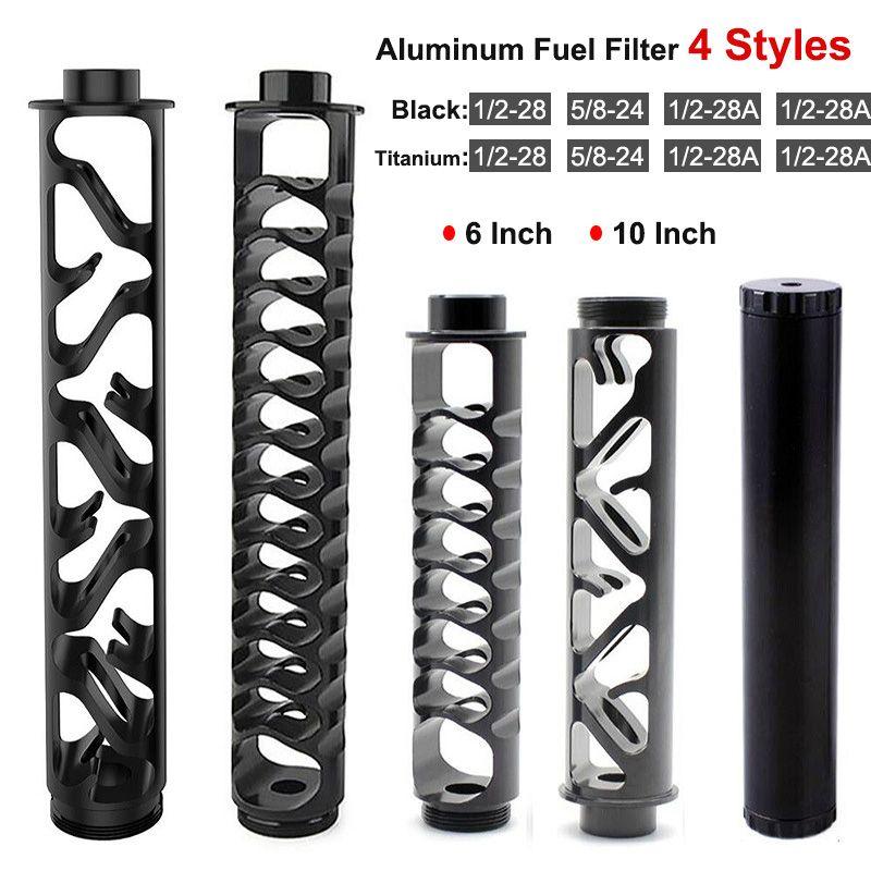 Alüminyum Araba Yakıt Filtresi 10 inç 6 Uzatma Spiral 1/2-28 5/8-24 Napa 4003 Wix 24003 RS-OFI için 1x7 Solvent Tuzağı