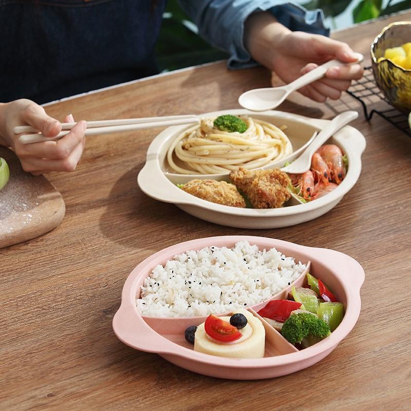 3 шт. / Набор Детская ложка набор набор пшеницы ужин из пшеницы соломенная и дополнение блюдо обучение завтрак Creative Baby Fork посуда для посуды Baby 1851 V2