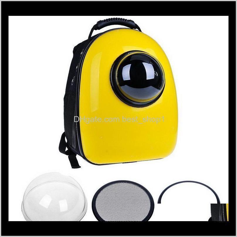 Cápsula de mochila transportadora com bolha para gatos e pequenos cães portadores de pacote Bolsa de ombro S2FNU Cat CarriersCrates Casas Qmbwo Inb4