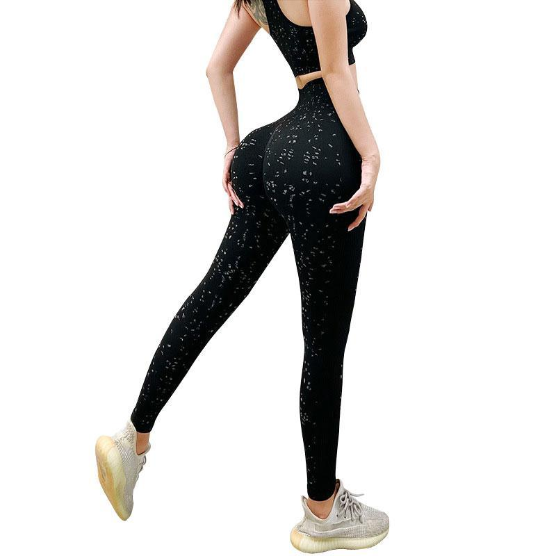Yoga Outfit Fashion Pants Sports Clothing Seamless Legging Solid High Waist Full Length Workout Leggings For Fittness