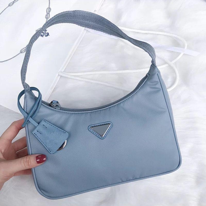 Women 2021 Designers Shoulder Bag Handbags Baguette Nylon Lady Luxurys High Quality Multiple Colors Fashion Tote Purse