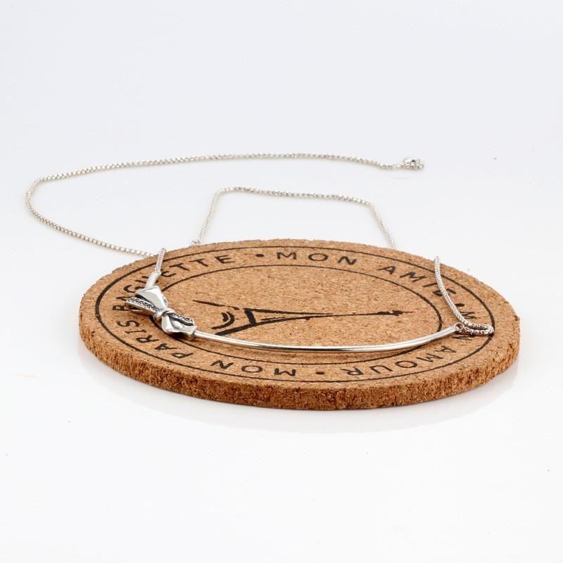 Authentique 925 Sterling Sterling Sterling Superfic Collier Simple Polyvalent pour Femmes De Mariage Cadeau Cadeau Bijoux de mode