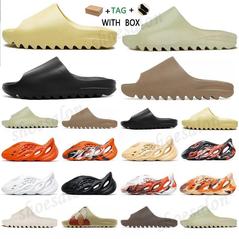 adidas Kanye West yeezy yezzy yeezys Slide Clog Sandal Foam Runner Triple Black  Fashion Slipper Women Mens Tainers bone 450 Designer Beach Sandals Slip-on Shoes