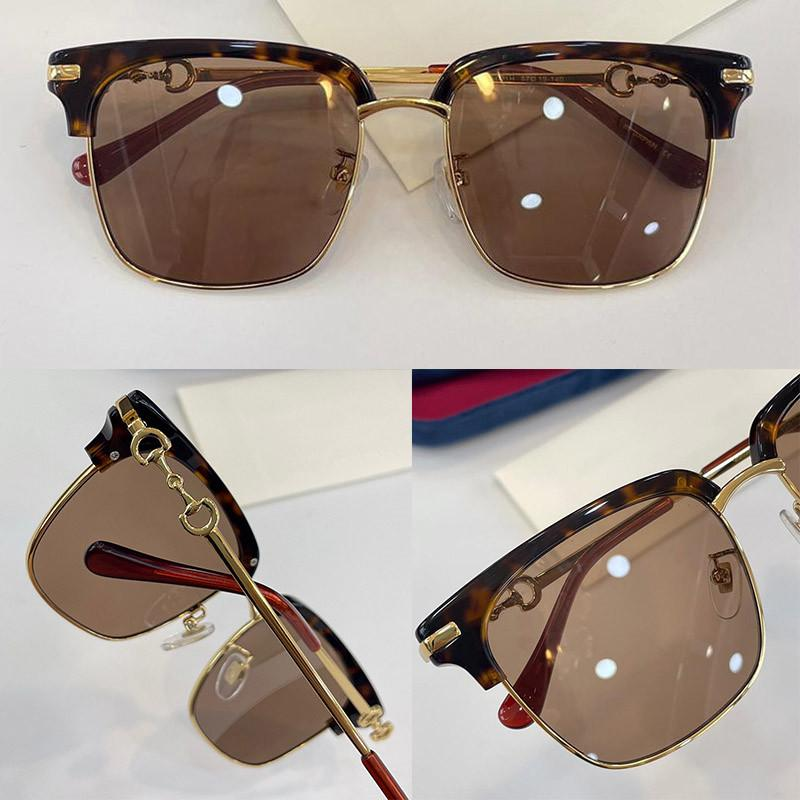0918 Fashion Summer style Multicolor Sunglasses UV 400 Protection for men and Women Vintage square metal Full Frame Top Quality Come With Case classic eyeglasse