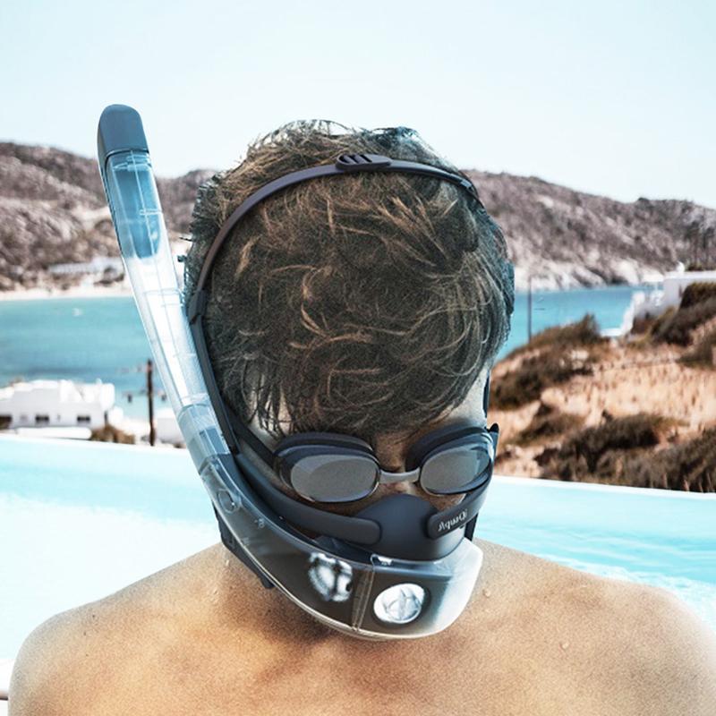 Diving Masks 2021 Innovative Design Silicone Snorkeling Mask Split Full Dry Snorkel Underwater Swimming Goggles Equipment
