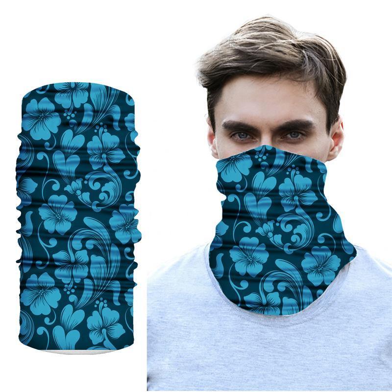 Outdoor Cycling Bandana Fishing Windproof Headband Geometric Printing Accessories Men Women Sunshade Collar Magic Head Scarf Caps & Masks
