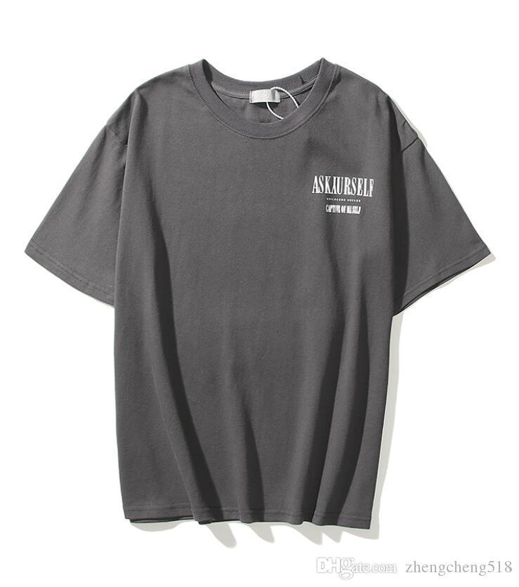 새로운 망 디자이너 티셔츠 패션 Tshirts 여름 패턴 티셔츠 남성 최고 품질 100 % 순수 면화 남자 티 폴로스