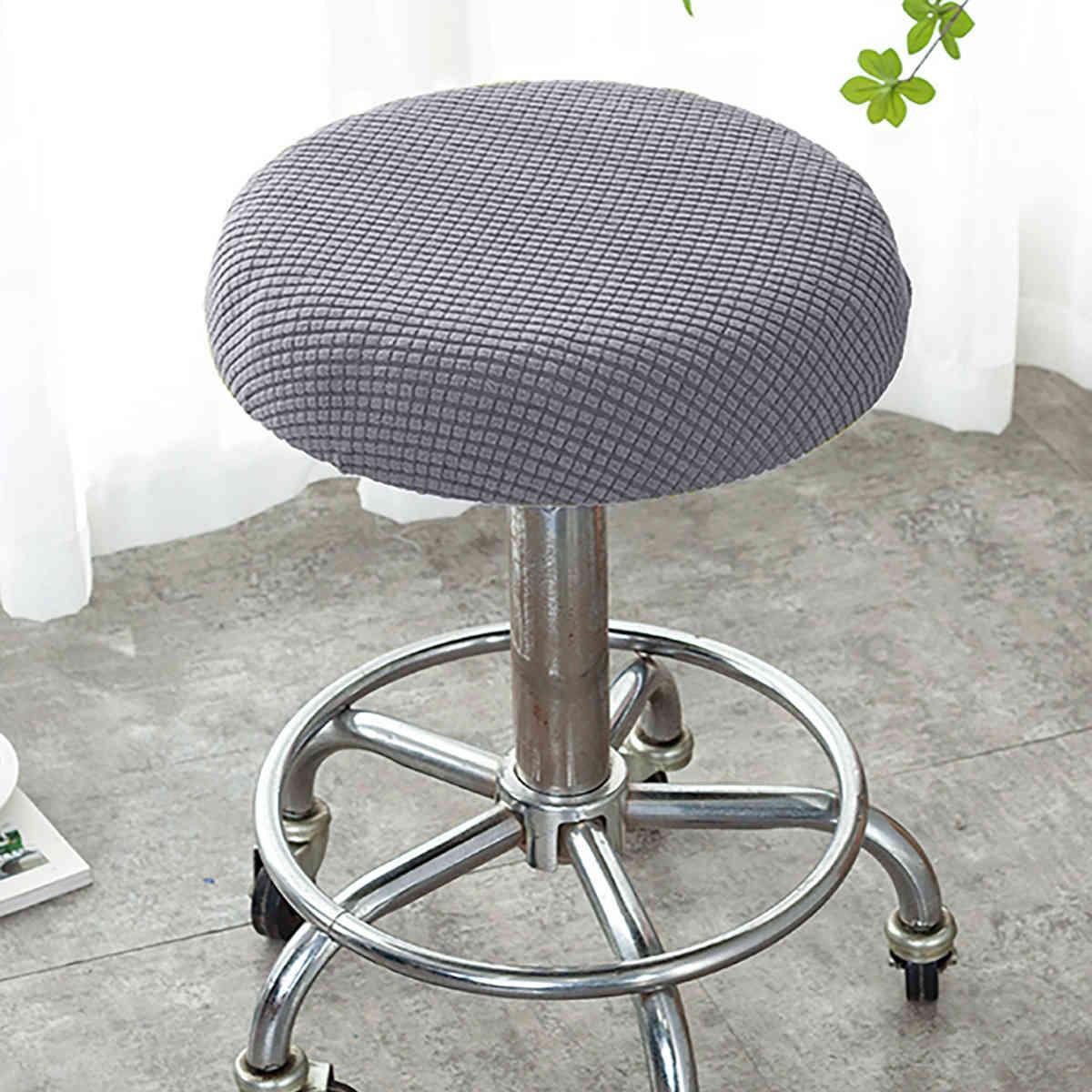 양털 라운드 스툴 커버 간단한 레스토랑 주방 가정 의자 다시 커버 보편적 인