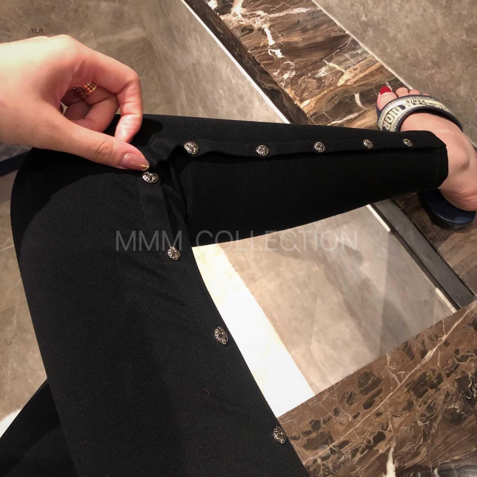 CH H / GUARDTS / CROMO CROSIN MMM Collezione Tre Dimensional Decoration Crosin Slim Pantaloni a matita elastica Amwu