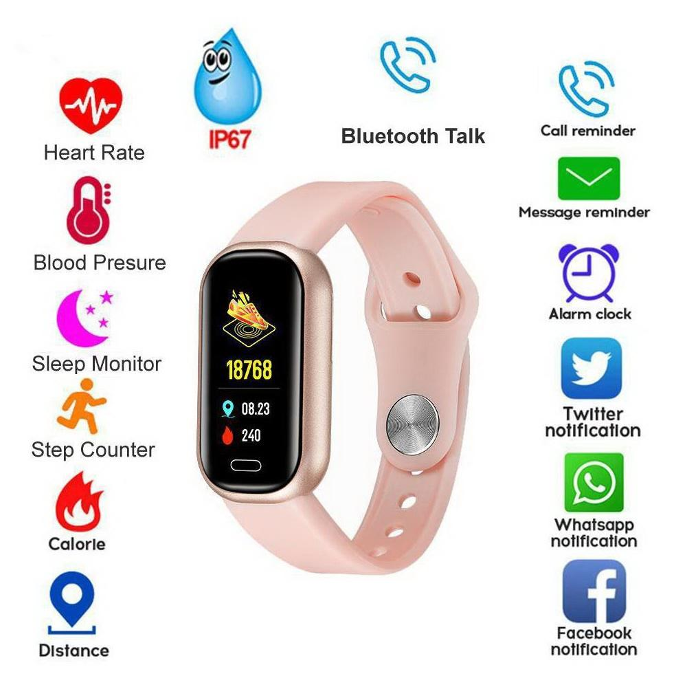 New Smart Wristbands Color Screen Activity tracker Bluetooth Call & Music Watch Heart Rate Monitor IP67 Waterproof Smartwatches For Iphones And Android Smartphones
