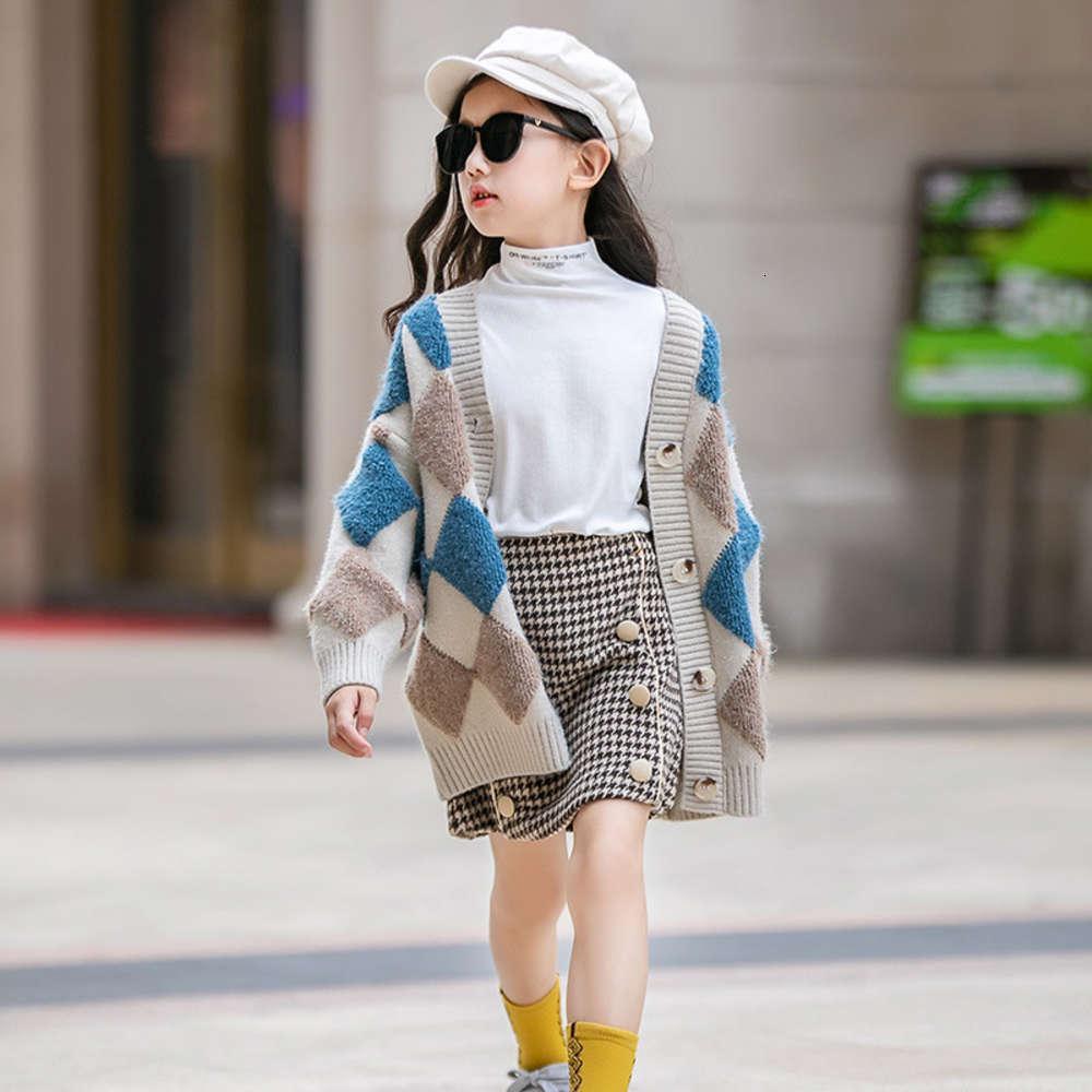 Kids cardineux cardigan cardigan à tricoter MyCos long MyCOS Longueur de la manteau de fil étranger des enfants automne hiver