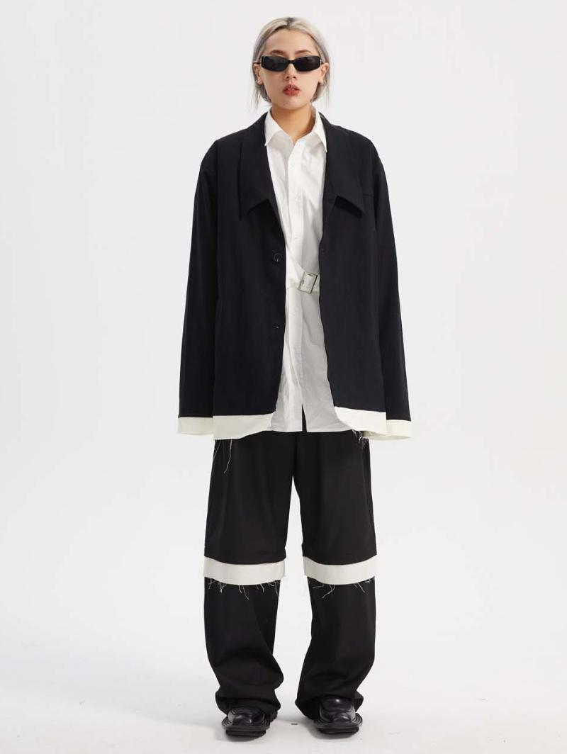 Abiti da uomo Blazer S-6XL 202 Uomo Abbigliamento donna Abbigliamento Hair Stylist Fashion Synito Bianco e nero Cuciture Off Spark Suit Plus Size Singer
