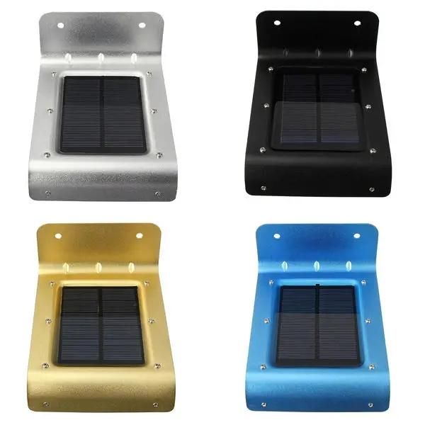 16 LED 태양 전원 음성 센서 벽 라이트 가든 야드 램프 방수 - 블루