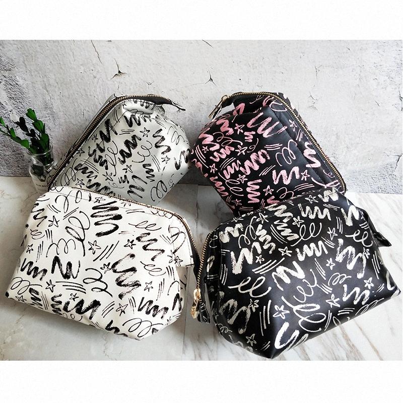 Criativo pu make-up bolsa moda moda trendsetter turismo doméstico e necessidades diárias saco de armazenamento de cosméticos portáteis z5gl #