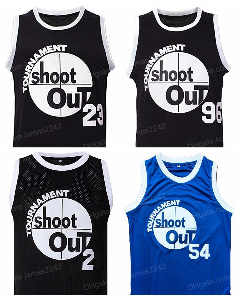Birdie # 96 motaw # 23 Pac # 2 Watson # 54 Basketball Jersey Über dem RIM-Turnier Shootout Film Männer Alle genäht S-3XL Hohe Qualität