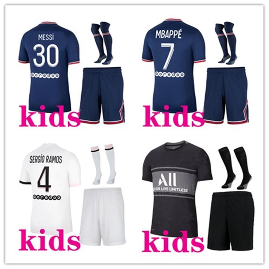 19 20 PSG kits de football pour enfants MBAPPE CAVANI ICARDI kids jersey de football 2019 2020 PSG de football kits Maillot de pied