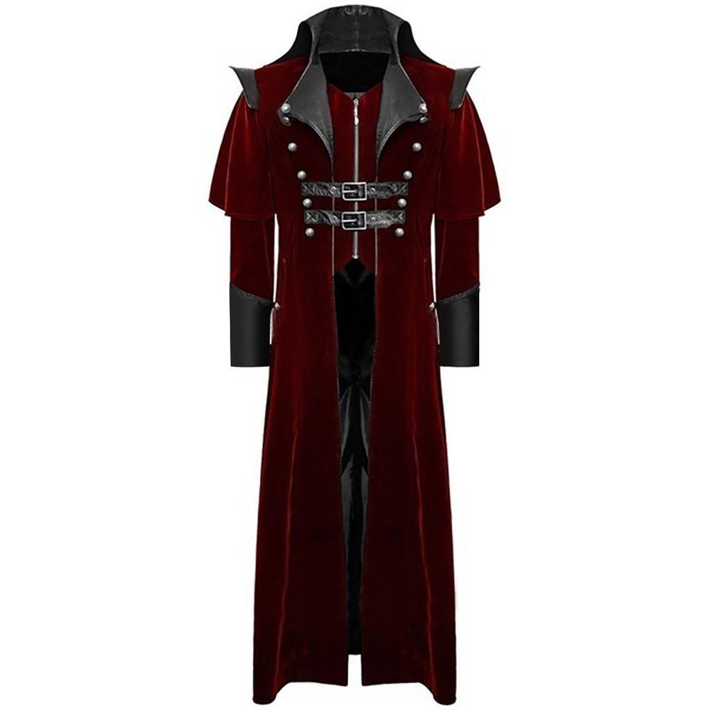 NOUVEAU DESIGN PLUS PATCHWORK HOMME JACKOAT Veste gothique manteau de frocotte de costume uniforme