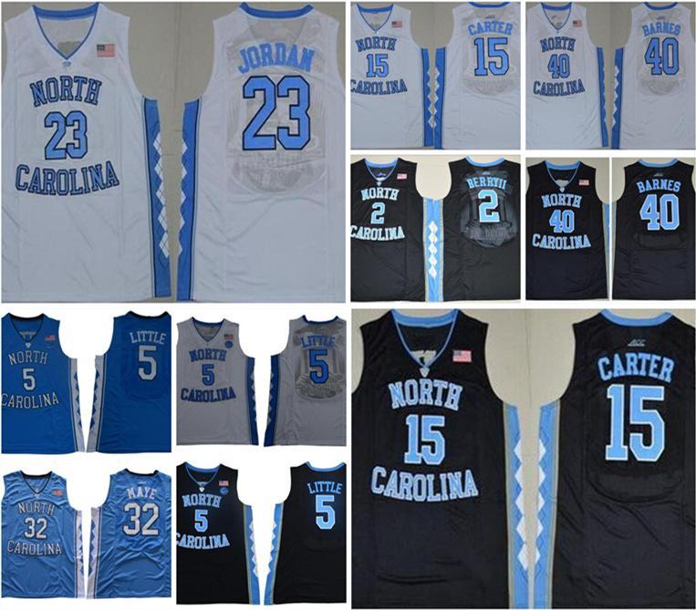 농구 유니폼 5 Nassir Little Carter 32 Luke Maye North Carolina Tar Heels Michael College Barnes Vince UNC Blue Black Jerseys 반바지 셔츠