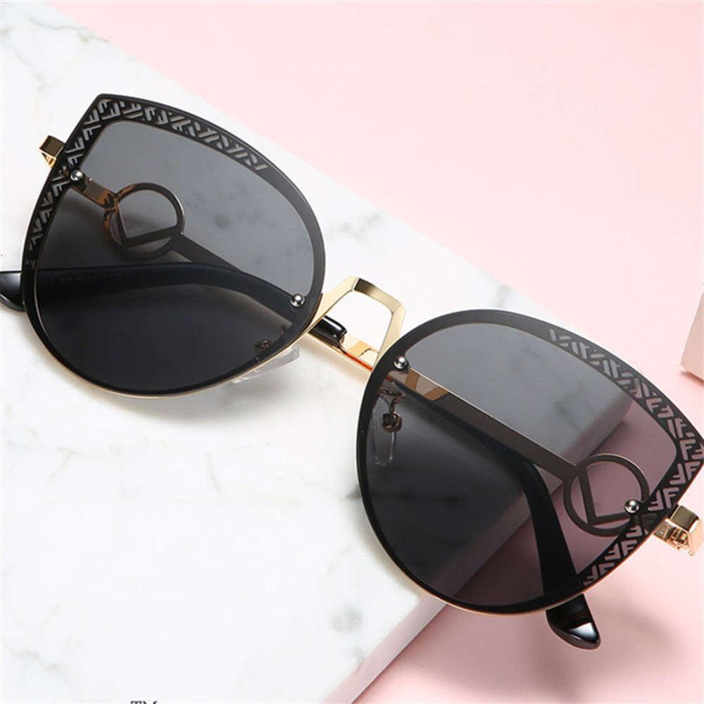 Siyah Shades Retro Kedi F Tasarımcı Güneş Kadınlar 2020 Erkekler Büyük Boy Vintage UV400 Aksesuar Gözlük (3)