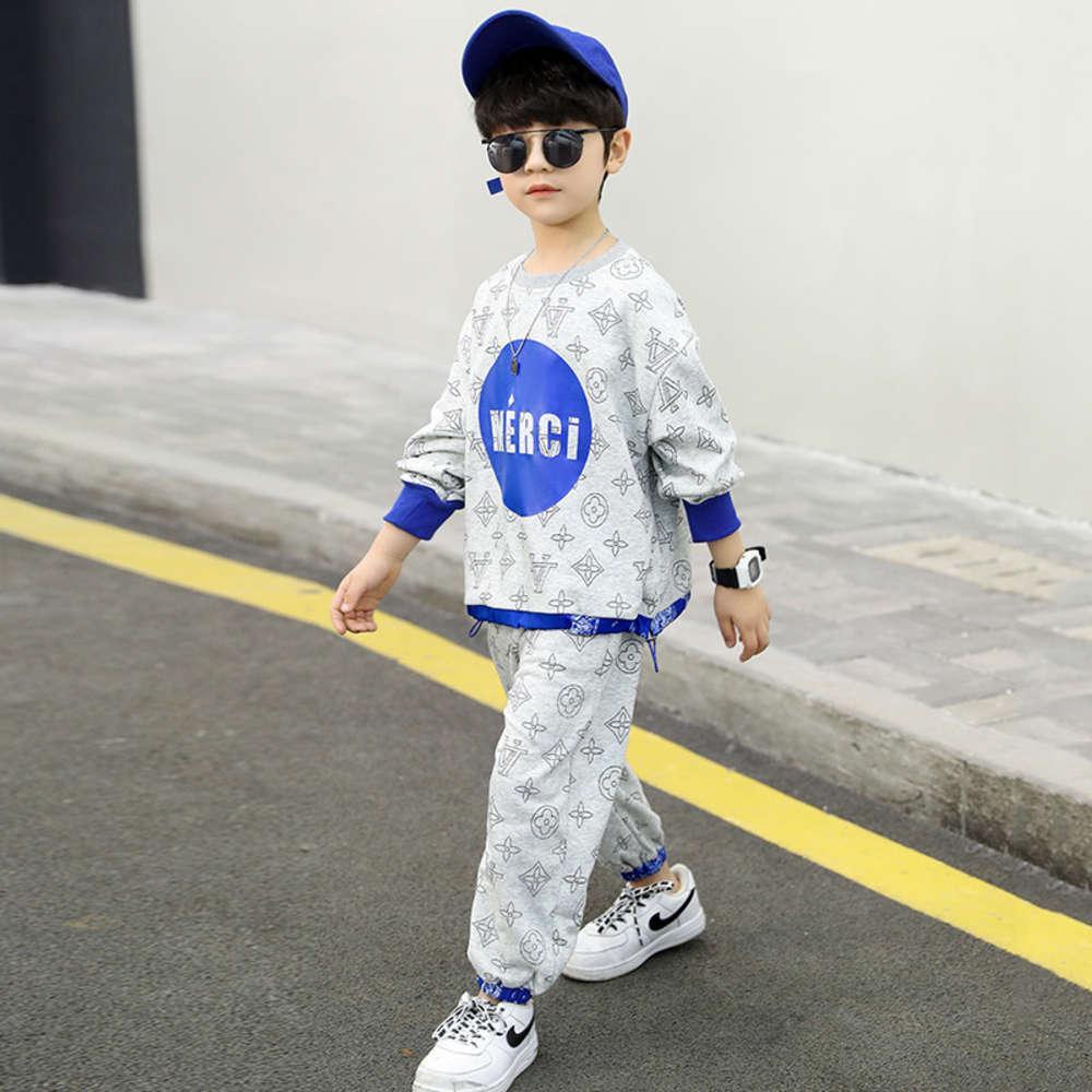 Vêtements pour enfants 'costume 2021 printemps porter Zhongda Sports Fashion Loisirs Lettre Lettre d'impression pour enfants
