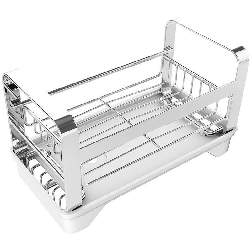 Évier en acier inoxydable Caddy Organizer, tient une éponge pour la cuisine avec une vaisselle en tissu de savon support de support