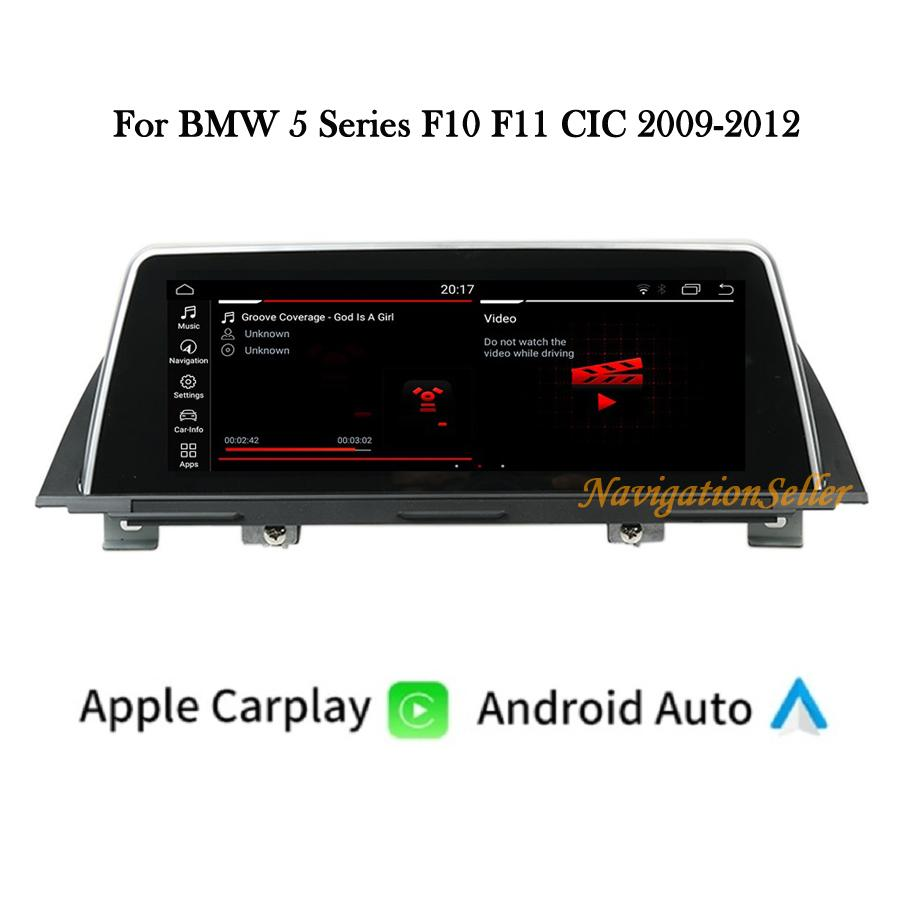 12.3inch Popout Car dvd player Android 10.0 4+64G Multimedia Navigation System For BMW 5 Series F10 F11 CIC 2009-2012 Stereo GPS Auto Radio Head unit