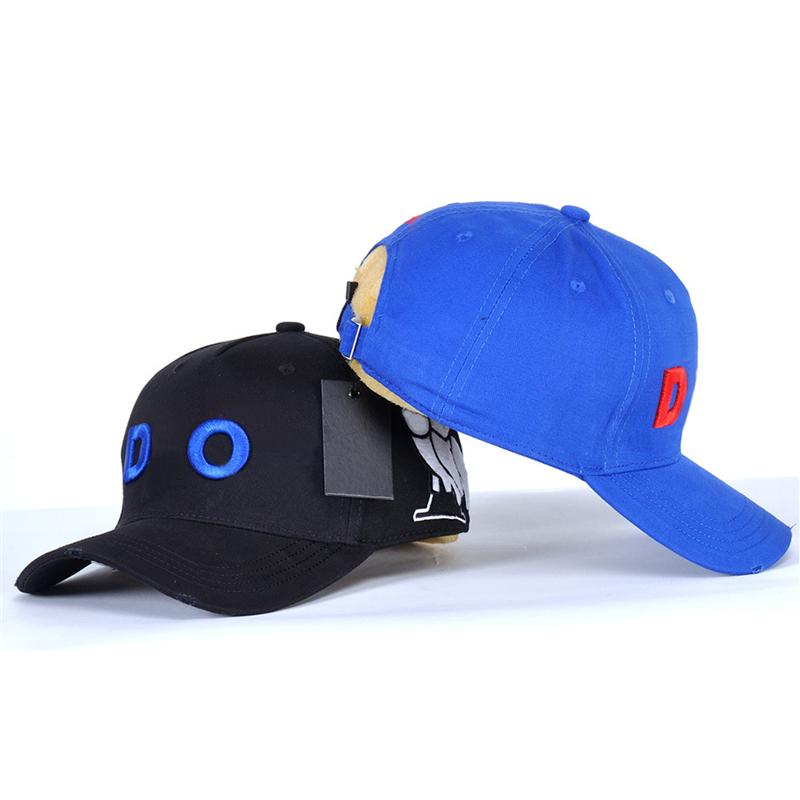 D229 Summer Snapbacks Sunscreen Caps for Lovers Letter Wide Brim Embroidered Dome Breathable Cotton Outdoor Sports Adjustable Baseball Cap