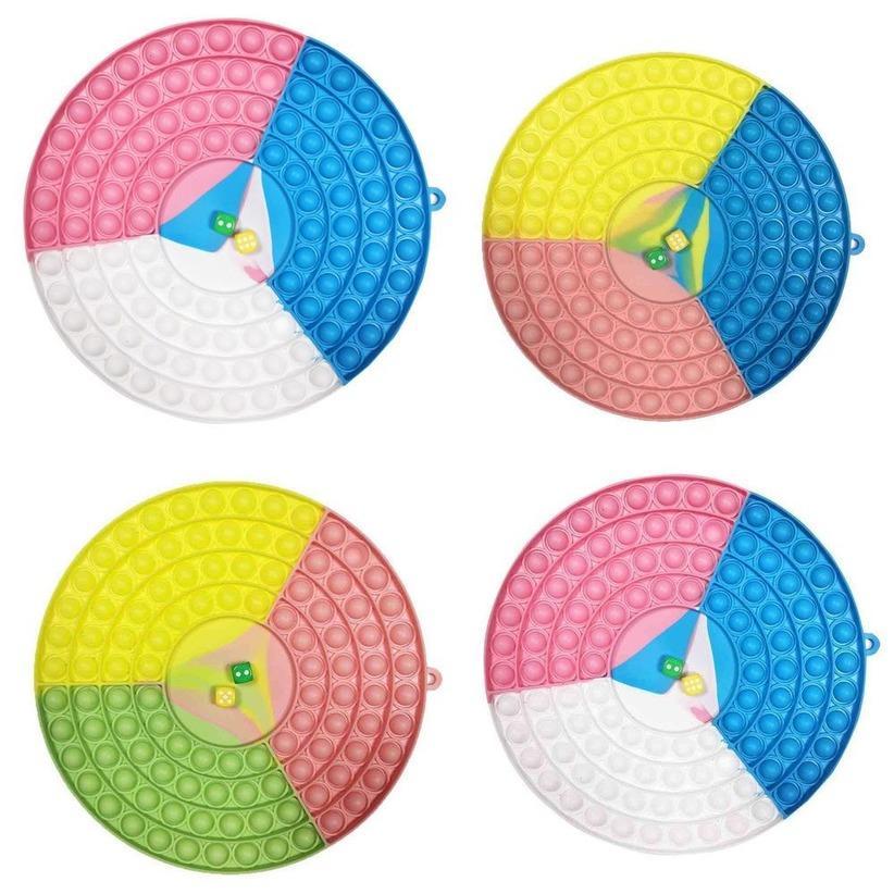 Dhl 26cm cerchio di grandi dimensioni cerchio bolle rotonde popper sensory feidget finger giocattoli gigante mega jumbo push pop poppers puzzle scacchiera dadi bordo giocattolo giocattolo arcobaleno colore